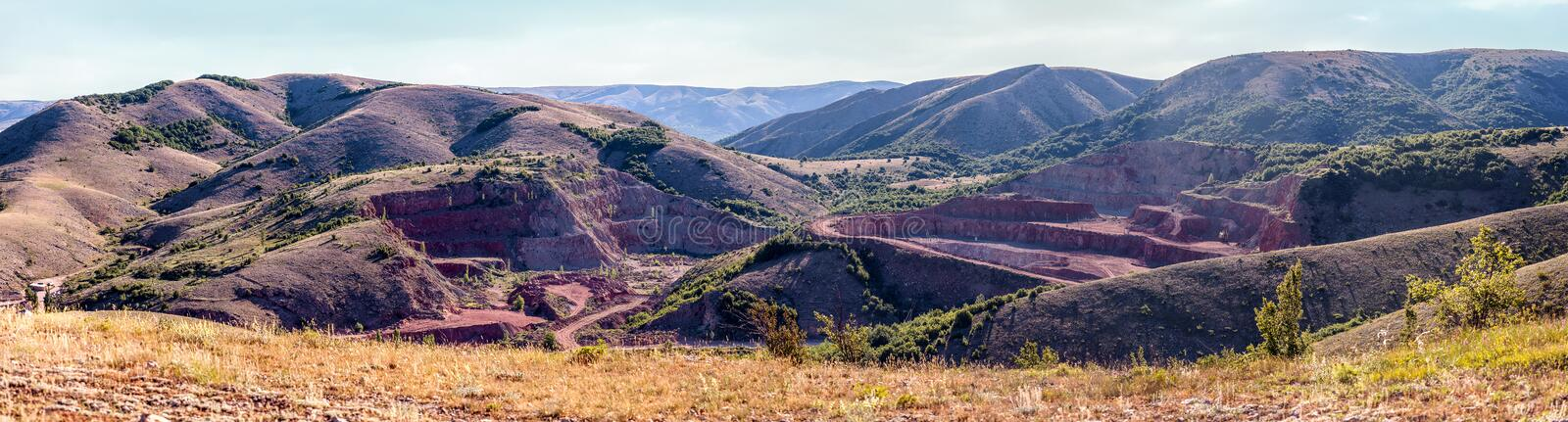 Quarry red marble. stock photography