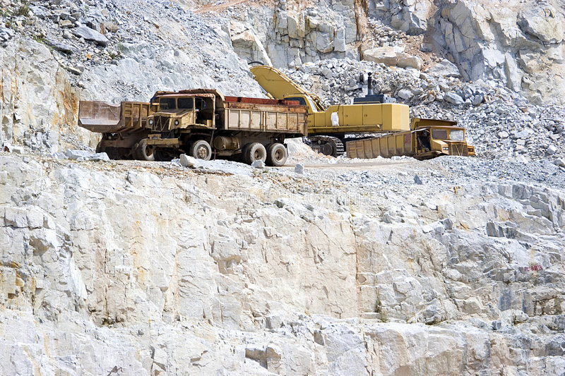 Download Quarry Works stock image. Image of haul, cliff, transfer - 3875173