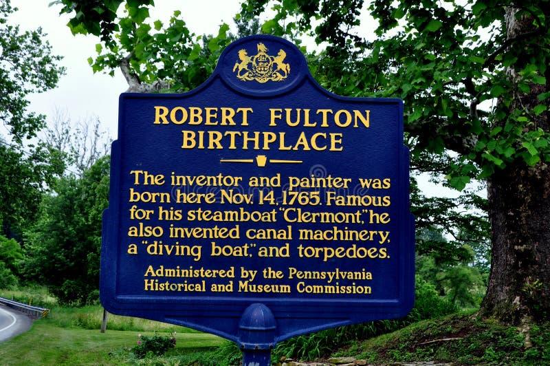 Quarryville, PA: Lugar de nascimento de Robert Fulton foto de stock royalty free