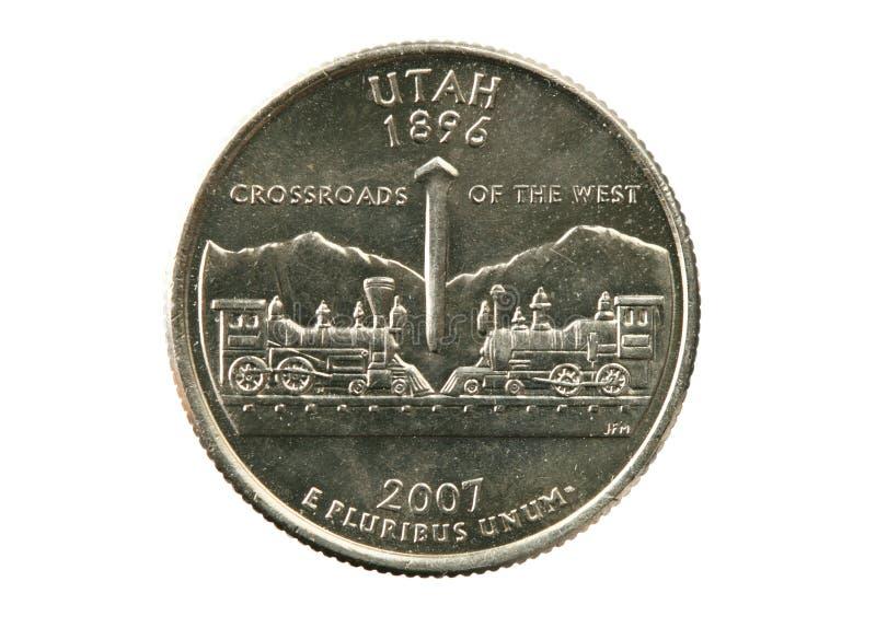 Quart d'état de l'Utah images libres de droits