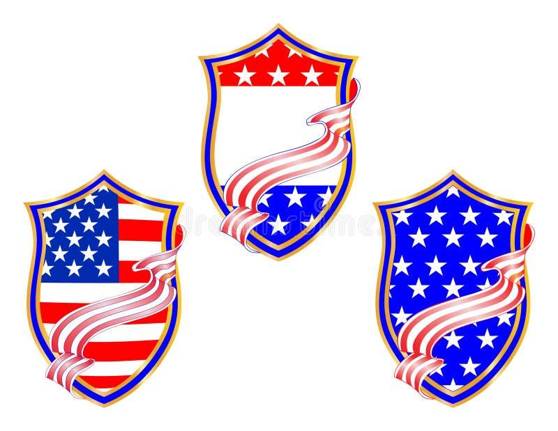 Quart de conception patriotique de juillet illustration stock