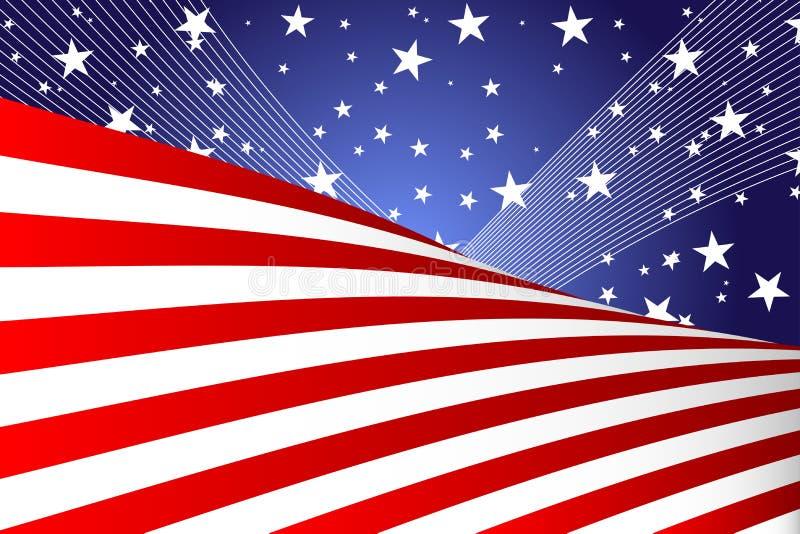 Quart de drapeau de juillet illustration stock