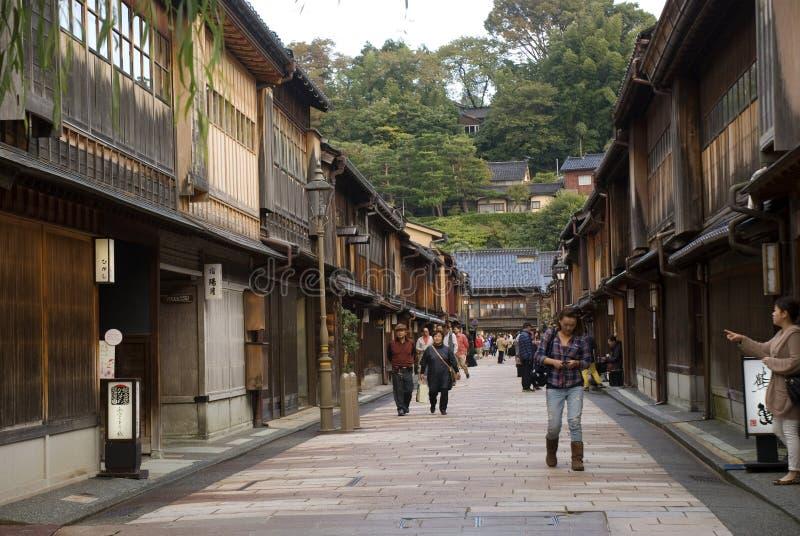 Quart de geisha, Kanazawa, Japon photographie stock libre de droits