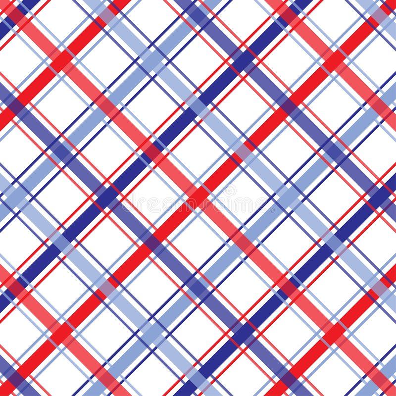 Quart de plaid de juillet illustration stock