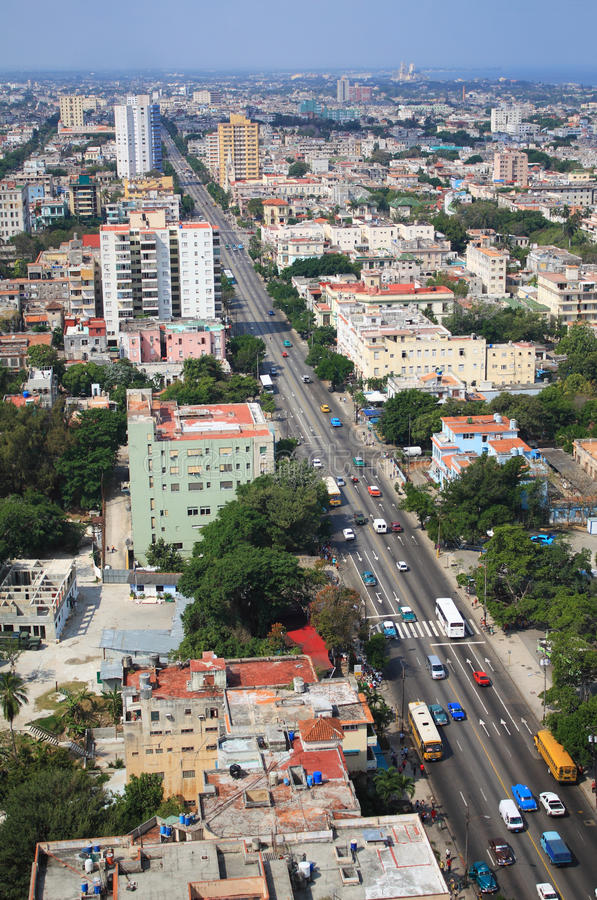 Quart de Vedado à La Havane, Cuba photo libre de droits