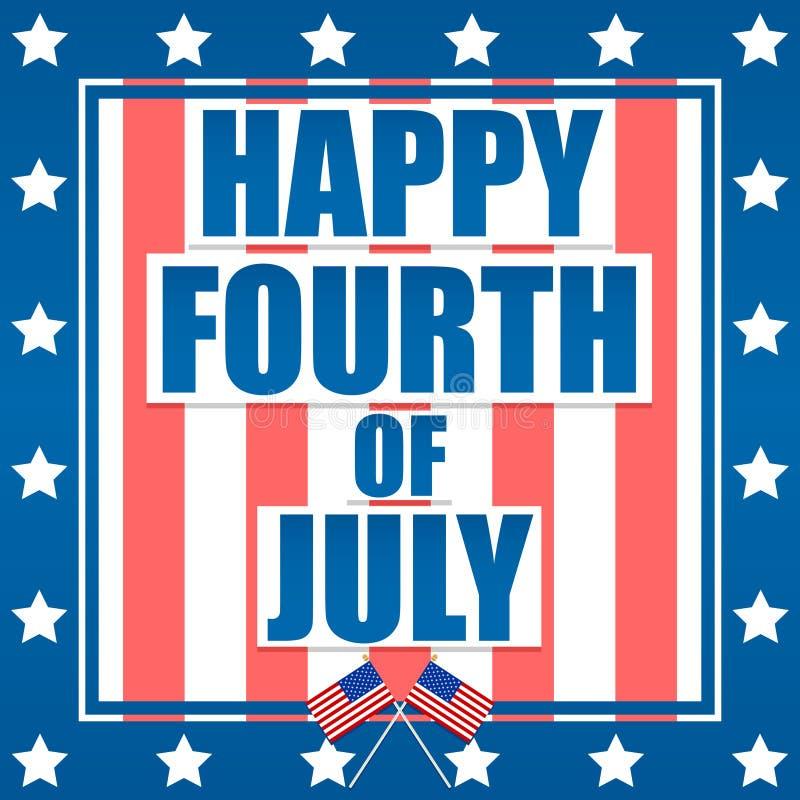 Quart heureux de juillet illustration libre de droits
