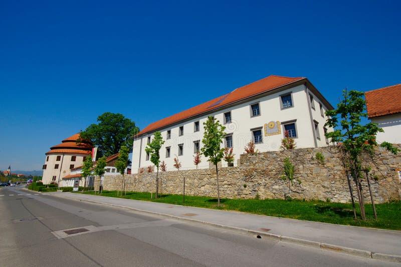 Quart historique prêté, Maribor, Slovénie images stock
