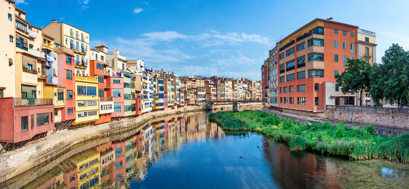 Quart juif à Girona l'espagne photos libres de droits