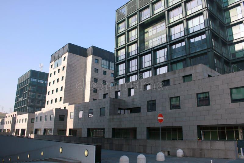 Quart neuf et université de BICOCCA. l'Italie, Milan photographie stock