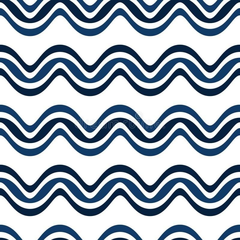 Quarta linea blu modello senza cuciture verticale di Walia Wave fotografia stock