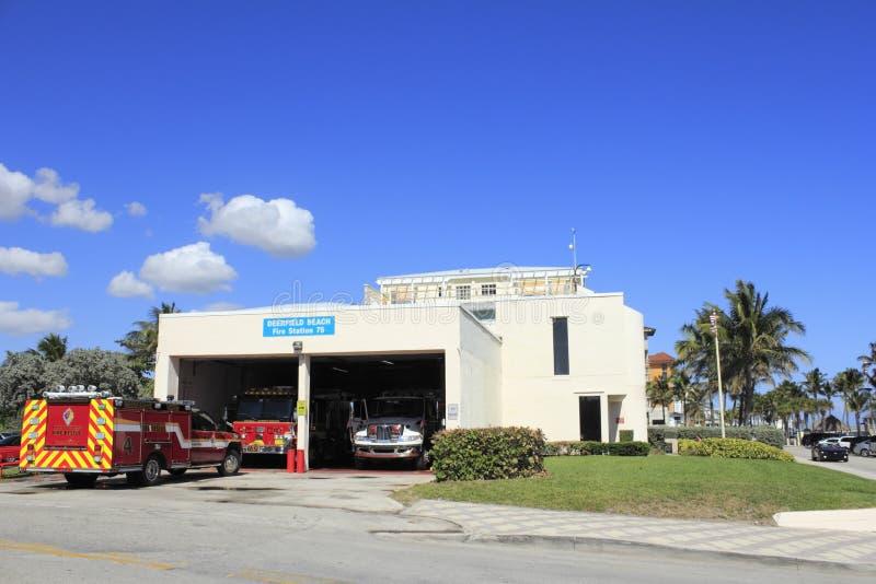 Quartel dos bombeiros 75 da praia de Deerfield imagens de stock royalty free