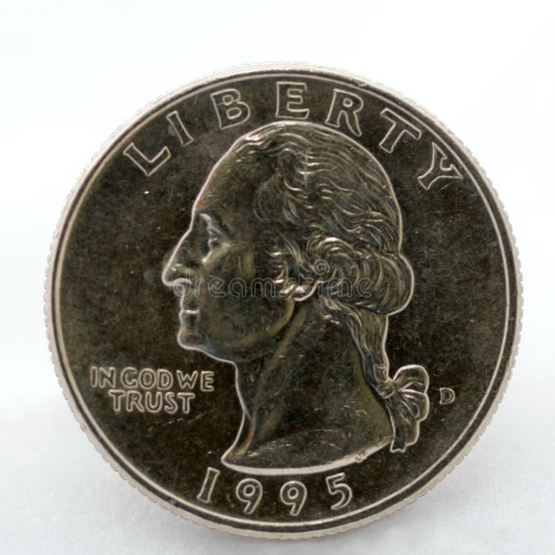Quarter dollar coin stock image