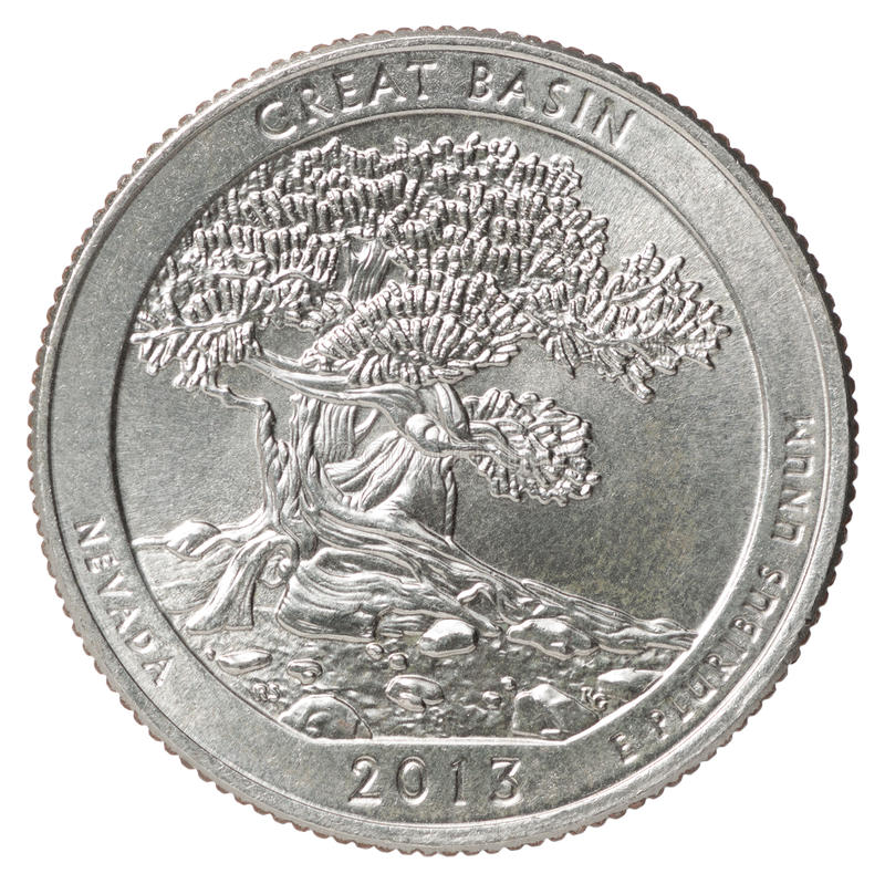 Quarter dollar coin stock images