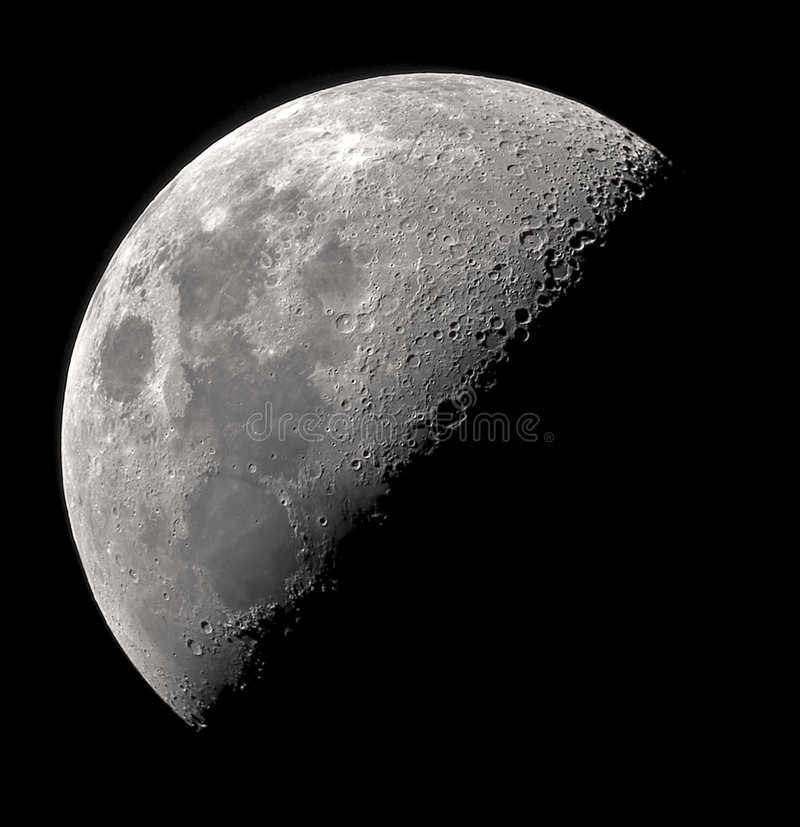 Quarter moon royalty free stock images