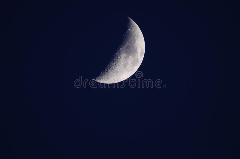 Quarter moon stock image