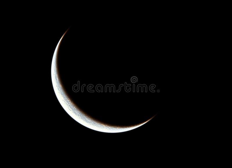 Quarter moon stock photography
