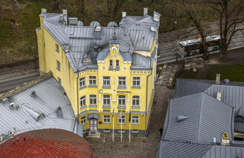 A quarter of old city is in Tallin, Estonia. stock photos