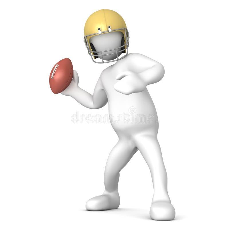 Download The quarterback stock illustration. Image of helmet, play - 13318819