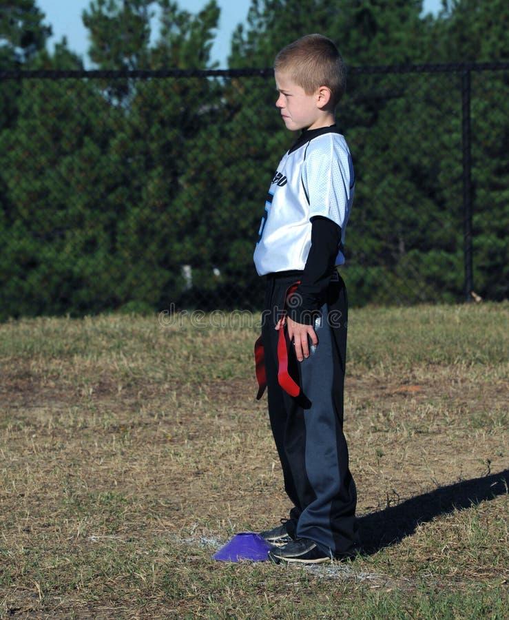 Quarterback da Equipe de Futebol da Bandeira fotos de stock