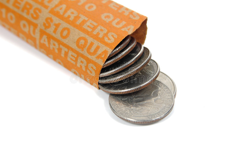 Download Quarters 2 stock image. Image of change, dimes, wrapper - 55081