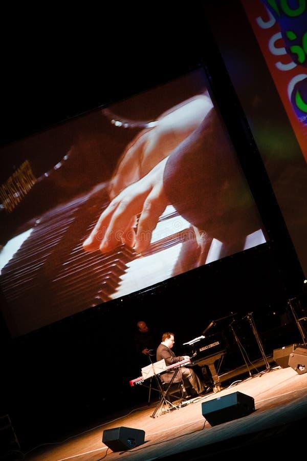 Quartet de John Scofield, festival 2010 de ZaJazz images stock