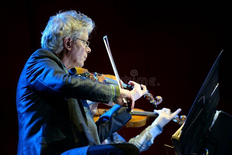 Quartet de Kronos (quartet de ficelle américain), concert au bruit 2014 de Heineken Primavera image stock