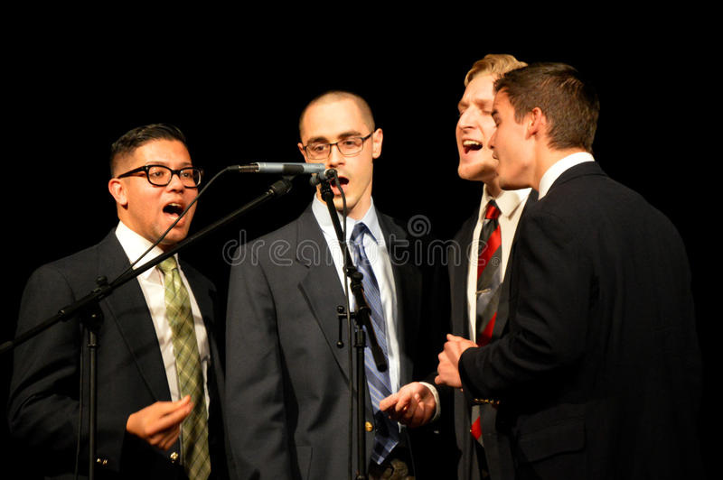Quartet du chant des hommes photo stock
