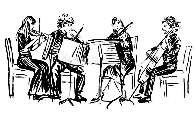 Quartet royalty free illustration