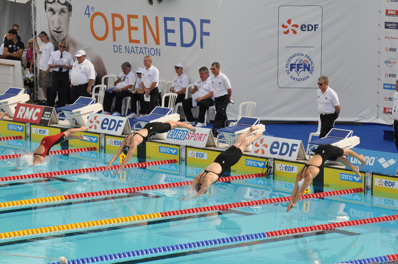 quarti FES aperto de Natation Parigi 2010 dell'edizione. fotografia stock libera da diritti