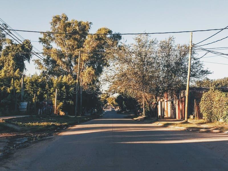 Quartier défavorisé de l'Argentine de rue de rosas de Las en Argentine image libre de droits