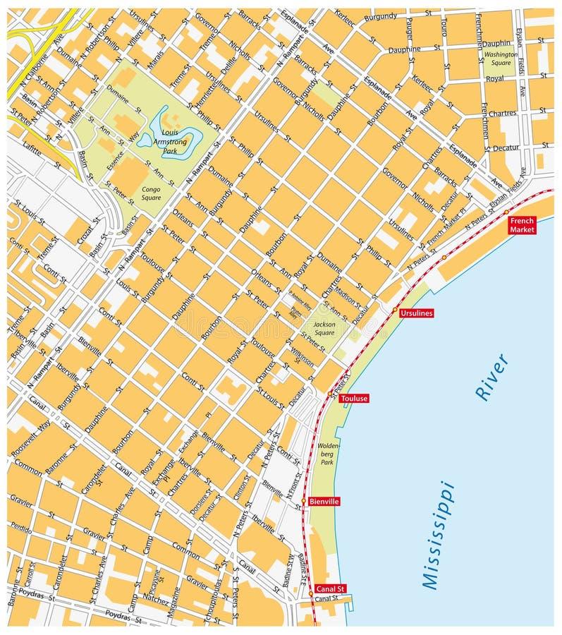 Quartier français de la Nouvelle-Orléans illustration de vecteur