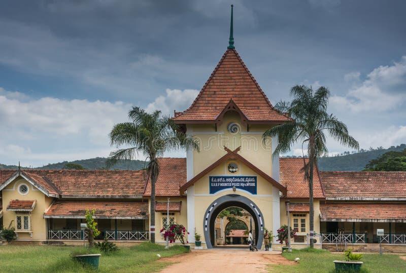 Quartier général de la police monté à Mysore, Inde photos stock