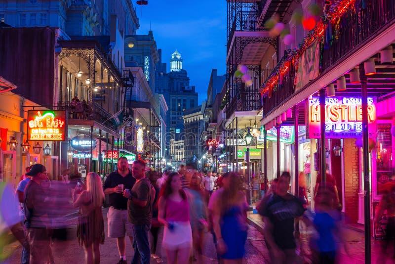 Quartiere francese, New Orleans del centro immagine stock