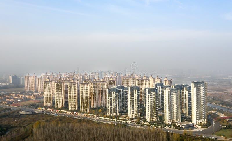 Quartieri residenziali a Nanchino fotografia stock libera da diritti