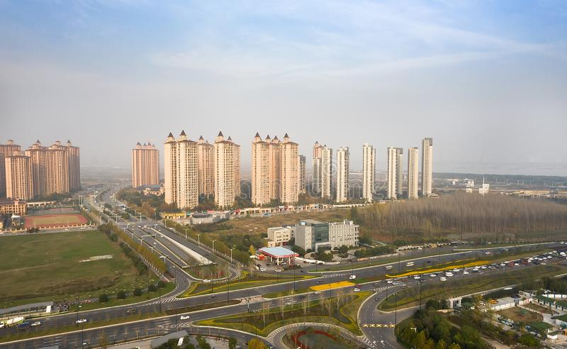 Quartieri residenziali a Nanchino fotografia stock
