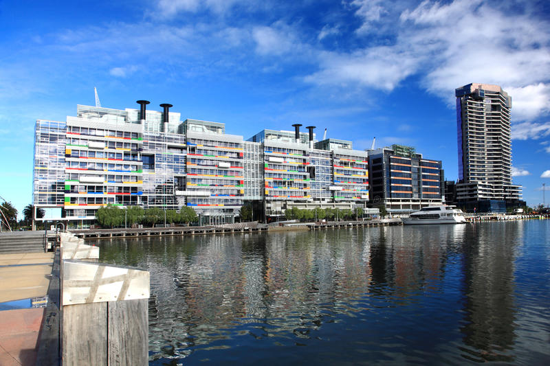 Quartiers des docks de Melbourne photographie stock libre de droits