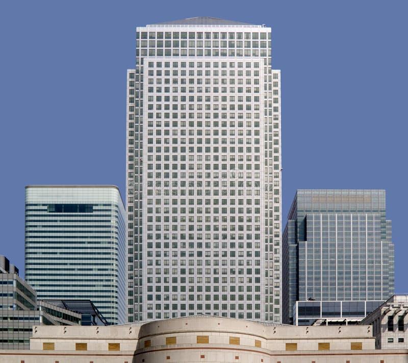 Quartiers des docks jaunes canari Londres de quai d'immeubles de bureaux image stock