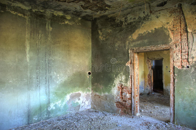 Quarto abandonado fotos de stock royalty free
