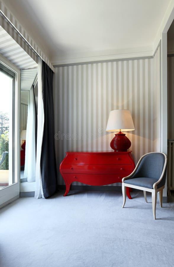Quarto, aparelhador e cadeira do detalhe foto de stock royalty free
