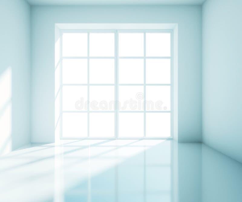 Quarto azul grande ilustração stock