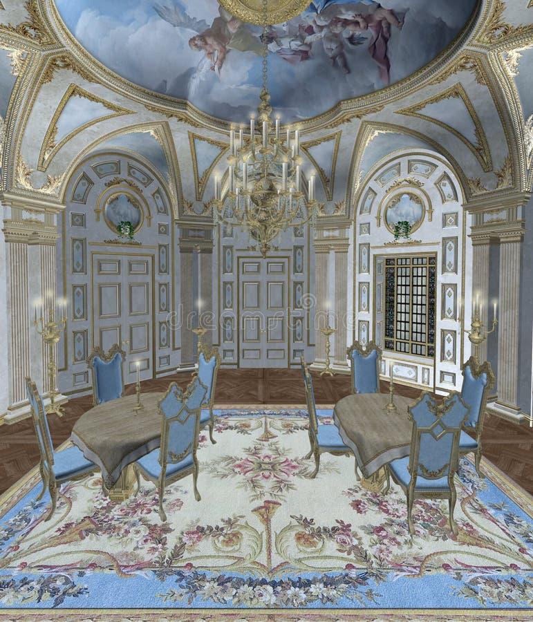 Quarto barroco 1 ilustração royalty free
