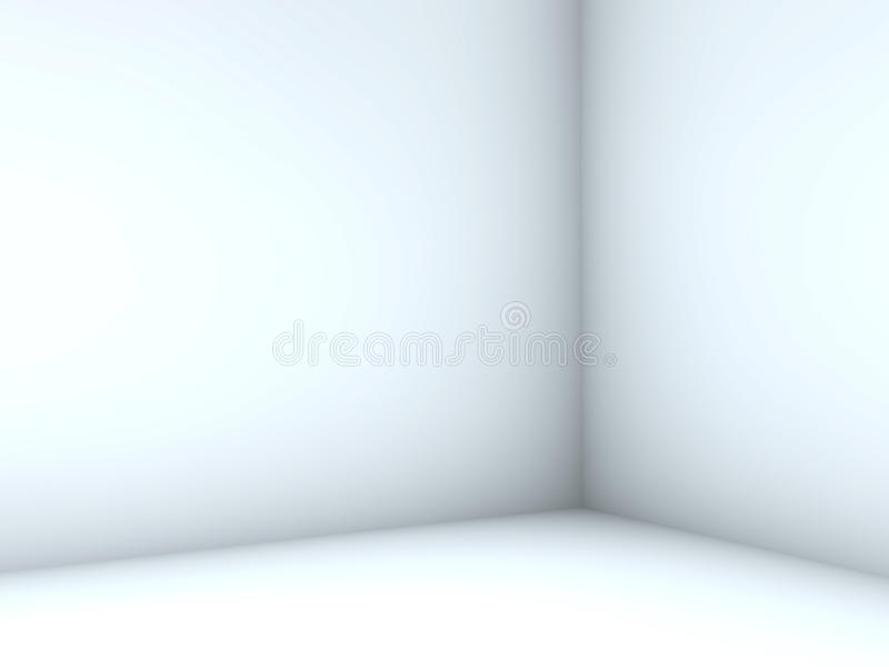 Quarto branco ilustração do vetor