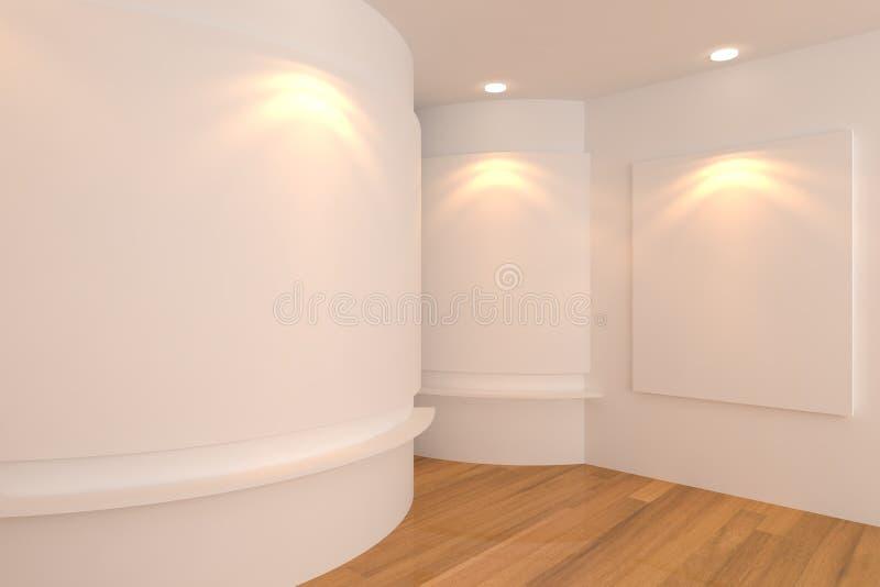 Download Quarto branco da galeria ilustração stock. Ilustração de decoração - 26506522