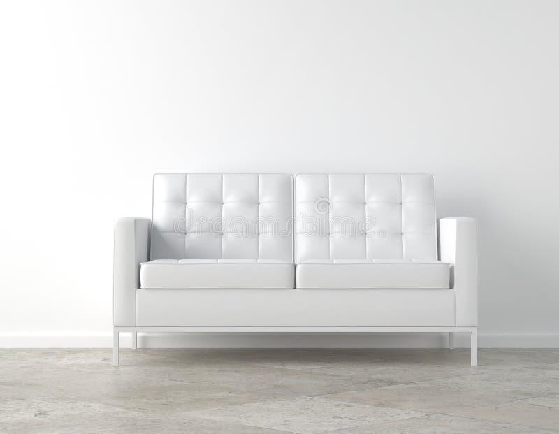 Quarto branco e sofá