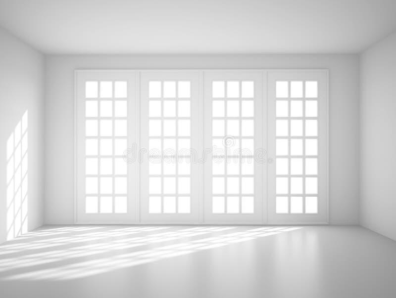 Quarto branco grande ilustração do vetor