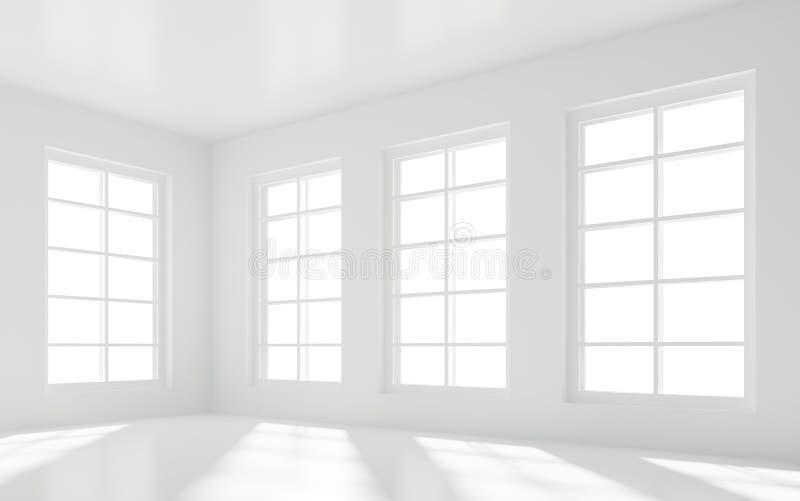 Quarto branco vazio ilustração stock