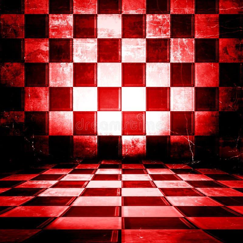 Quarto Checkered ilustração royalty free