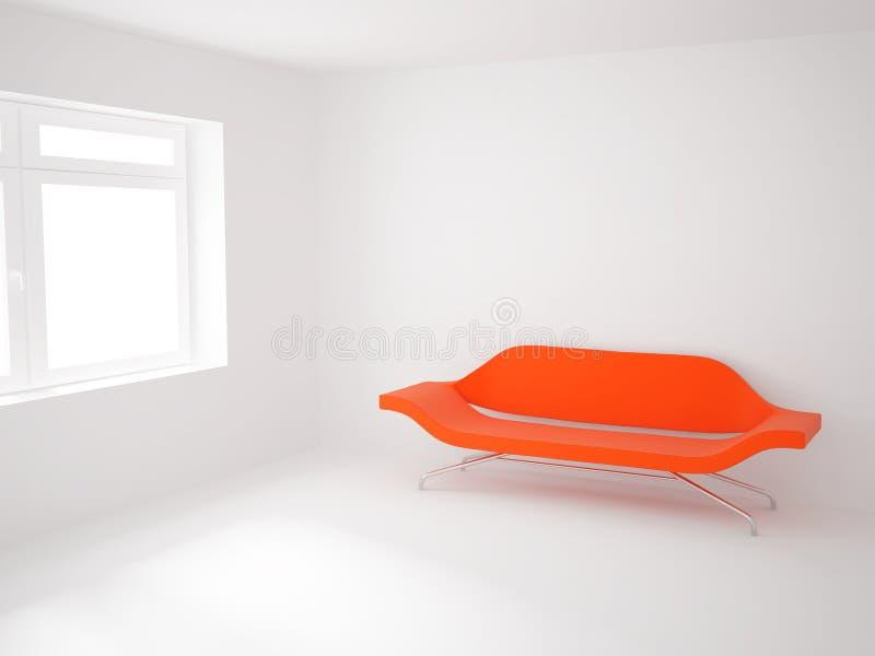 Quarto com um sofá ilustração do vetor