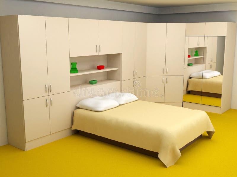 Quarto Cosy 3d interior ilustração royalty free