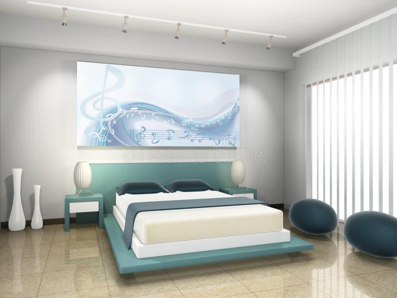 Quarto da cama ilustração stock